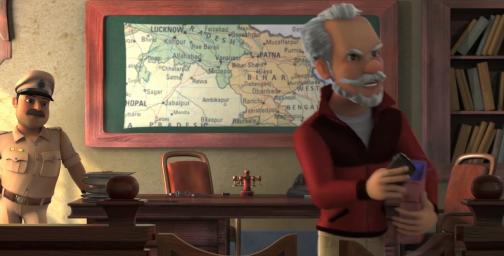 Кадры из мультфильма Путешествие вокруг света. В поисках Единорога (The Shonku Diaries: A Unicorn Adventure)