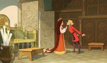 Кадры из мультфильма Три богатыря и Наследница престола